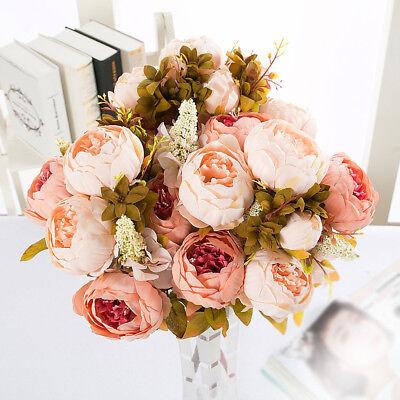 8Stk Künstliche Seidenblumen Pfingstrose Kunstblumen Blumenstrauß Strauß Dekor (Strauß Seidenblumen)