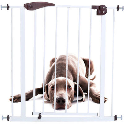 New Dog Gate Indoor Pet Fence Baby Barrier Adjustable Walk Thru Swinging Door