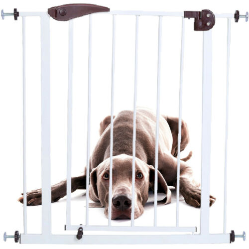 New Dog Gate Indoor Pet Fence Baby Barrier Adjustable Walk Thru