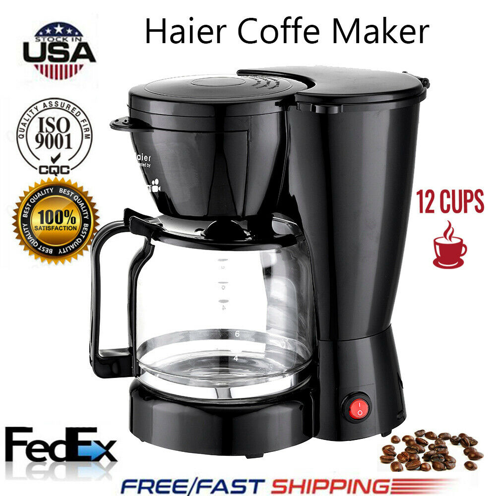 New Coffee Maker 12 Cups Machine Drip Filter Glass Carafe Au