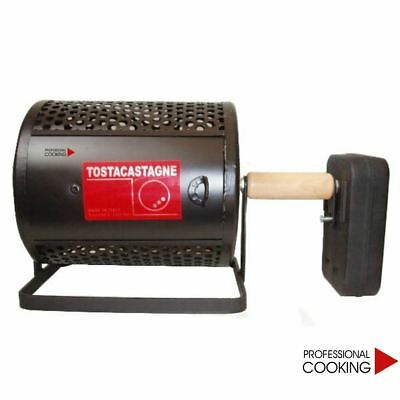 Tosta castagne a batteria per cucina a gas caldarroste con rullo made in Italy