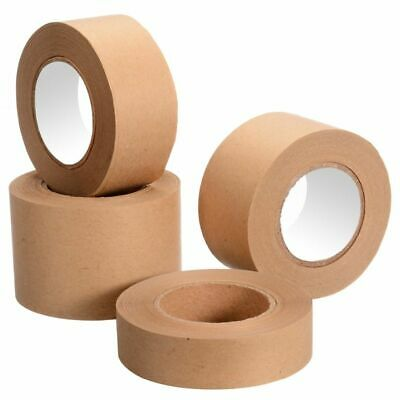 Gummed Kraft Paper Tape 30m Bundled Adhesive Sealed Water Activated Sticker Tool