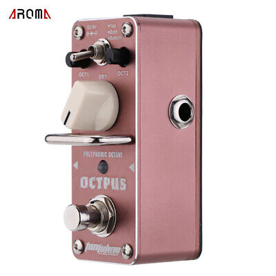 AROMA Octave Polyphonic Mini Single Electric Guitar Effect Pedal w/ True Bypass