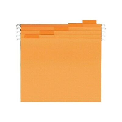 Staples Hanging File Folders 5 Tab Letter Size Orange 25box 435032