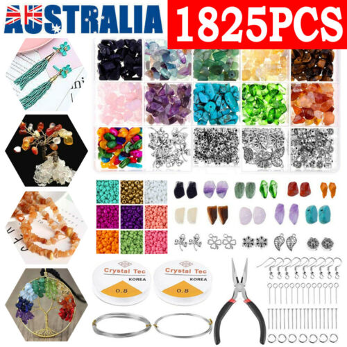 Jewellery - 1825Pcs Crystal Chip Beads Jewelry Making Kit for Earring Necklace Bracelets AU~