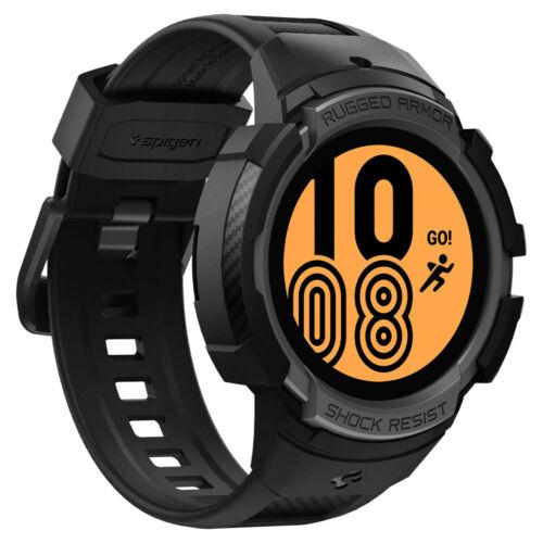 Galaxy Watch 4 Case | Spigen ®[ Rugged Armor Pro ] Shockproof Slim Matte Cover