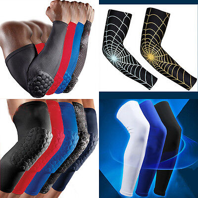 Hot Adult Basketball Pad Protector Gear Leg Knee Arm Elbow Long Sleeve Antislip