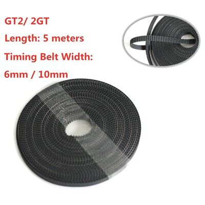 3D Printer Parts 5 meters GT2-6mm/10mm Open Timing Belt Width Belt for RepRap