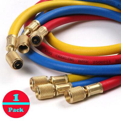 "3pc 35"" 3FT Manifold Gauge Set HVAC AC Refrigeration Charging Hoses R12 R22 R502"
