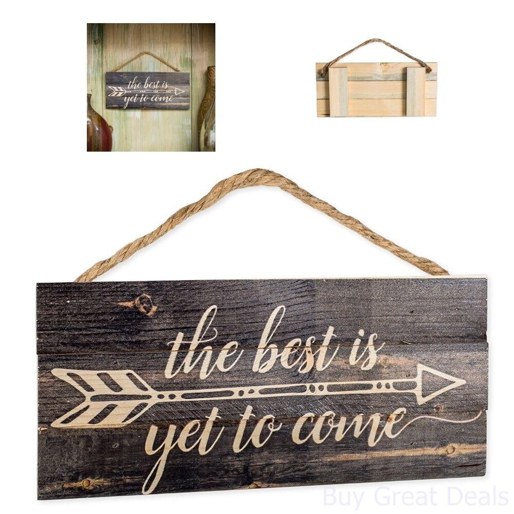 Rustic Wood Sign Home Decor Hanging Arrow Bedroom Living