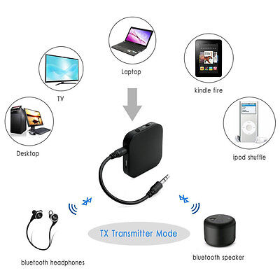 Bluetooth 3.0 Transmitter Receiver 2-in-1 3.5mm Wireless Stereo Audio Adapter