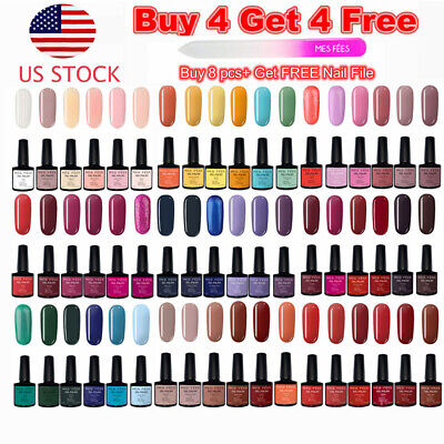 - MES FEES Over 100 Colors Gel Nail Polish Set Top&Base Coat UV Soak Off Nail Art