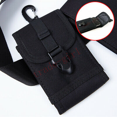 Mens Nylon Belt Loop Holster Phone Pouch Waist Bag Fanny Pack Travel Hiking