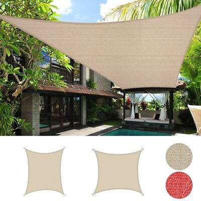 - Sun Shade Sail Canopy Outdoor Patio Pool Lawn Rectangle Fabric Cover UV Block