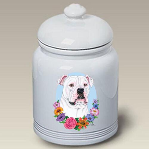 American Bulldog Ceramic Treat Jar TP 47300