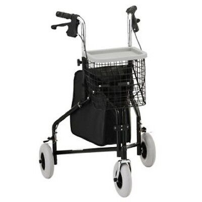 Drive Medical 3 Wheel Rollator, Chrome