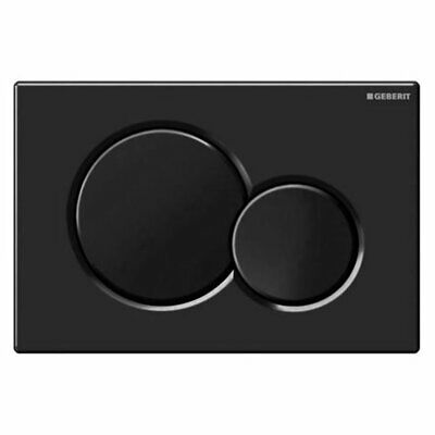 New Geberit Sigma01 Jet Black Dual Flush Plate for UP320 Cistern - 115.770.DW.5