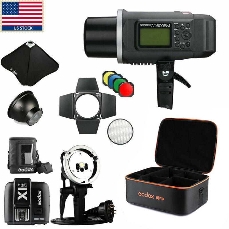 US Godox AD600BM 600w 1/8000s 2.4G Wireless Flash Light Bowens Mount f Canon