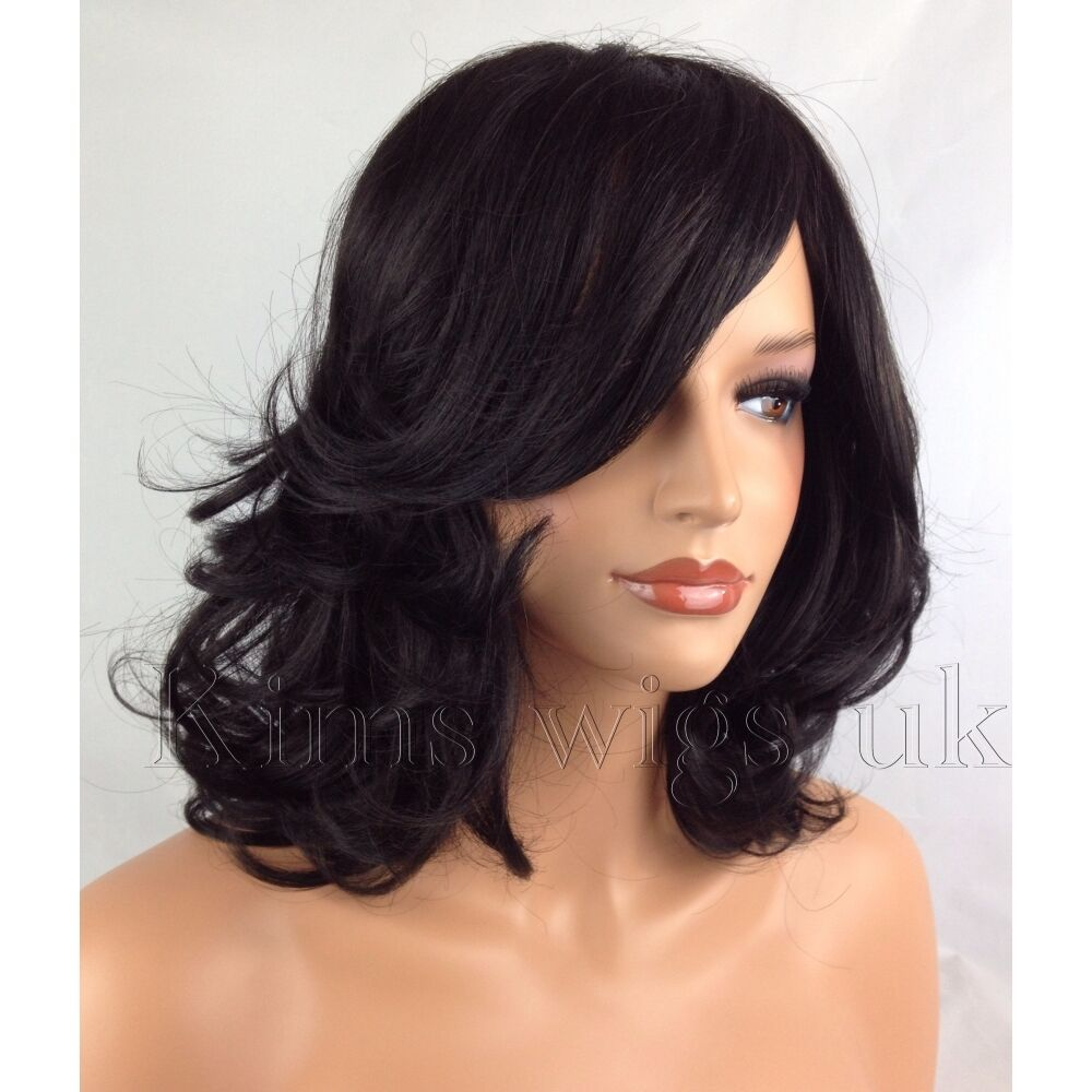Young Womens Shoulder Length Curly Wigs 6