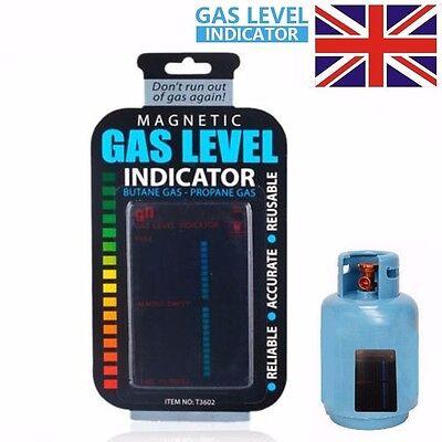 BUTANE / PROPANE GAS BOTTLE LEVEL INDICATOR CALOR LPG GAUGE MAGNETIC CARAVAN BBQ