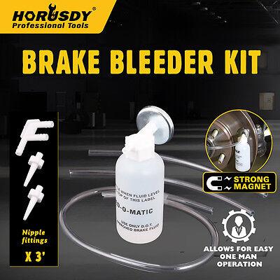 Automotive Brake Line Bleeding Bleeder Flush Tool Kit System Universal Service