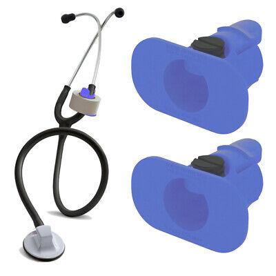 2 Pack Of Blue S3 Stethoscope Tape Holders - Littman Nursing Scrubs Ems Emt