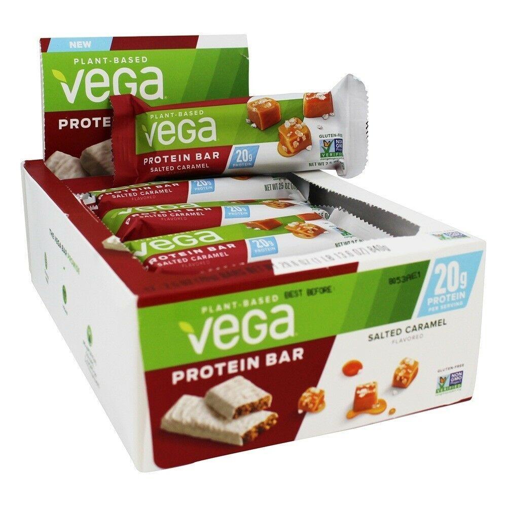 Vega 20g Plant Based Vegan Protein Bar - Box of 12 Bars SALT