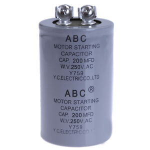 CD60A MOTOR STARTING Capacitor 125VAC 200uF , 125 VAC 200MFD , TMC ,  UL listed