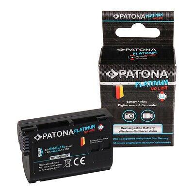 Akku für Nikon EN-EL15b 7000 D7100 D600 D610 D800 D800E D810 D850 Z7 V1 Patona, gebraucht gebraucht kaufen  Tuttlingen