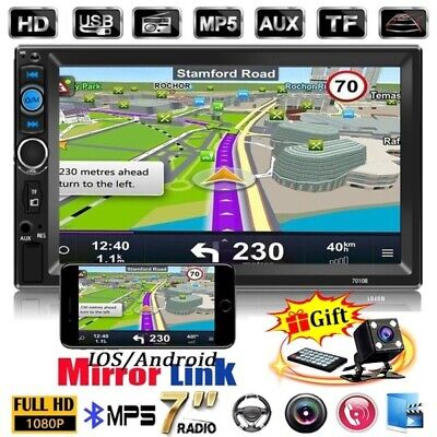 Autoradio 2 Din De Coche Con Bluetooth Pantalla Tactil Radio MP5 +...