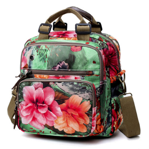 Womens Floral Diaper Bag Mommy Backpack Crossbody Shoulder Travel Fashion Bag Clothing, Shoes & Accessories