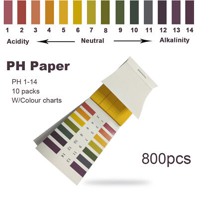 Lab 800 Ph Indicator Test Strips 1-14 Paper Litmus Tester Healthcare Cooking New