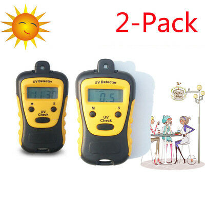 2x Uv Strength Tester Meter Photometer Detector Handheld Lcd Light 1000u Wcm2