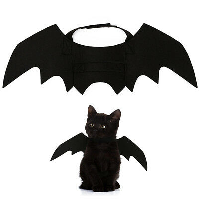 Animal Pet Dog Cat Bat Vampire Halloween Fancy Dress Costume Outfit Wings - Bat Dog Costume