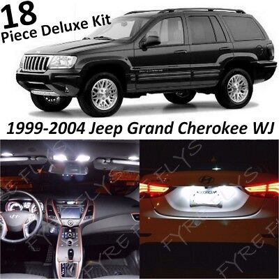 White Interior LED Lights Deluxe Pack for 1999-2004 Jeep Grand Cherokee WJ +Tool