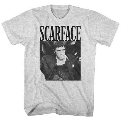 (Scarface Men's T-shirt Tony Montana Bad Guy Throne Tuxedo Pacino Gangster Movie)