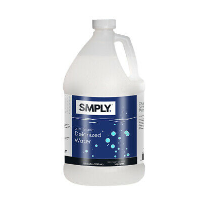 Smply. Deionized Water - 1 Gallon Demineralized And Lab Grade