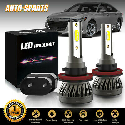 HID H11 H8 H9 H16 COB LED Low Beam Fog Light Conversion Kit Premium 6500K (Best Projector For 200)