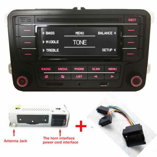 Autoradio RCN210 mit Kabel BLUETOOTH CD USB AUX für VW GOLF TOURAN POLO CADDY CC