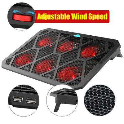 "12""-19"" Quiet Laptop Cooler Tilt Cooling Pad Mat Stand With 2 USB Powered Fans"