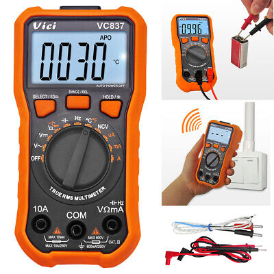 Digital Multimeter 6000 Counts Trms Auto Range Dc Ac Current Meter Ncv Fast Ship