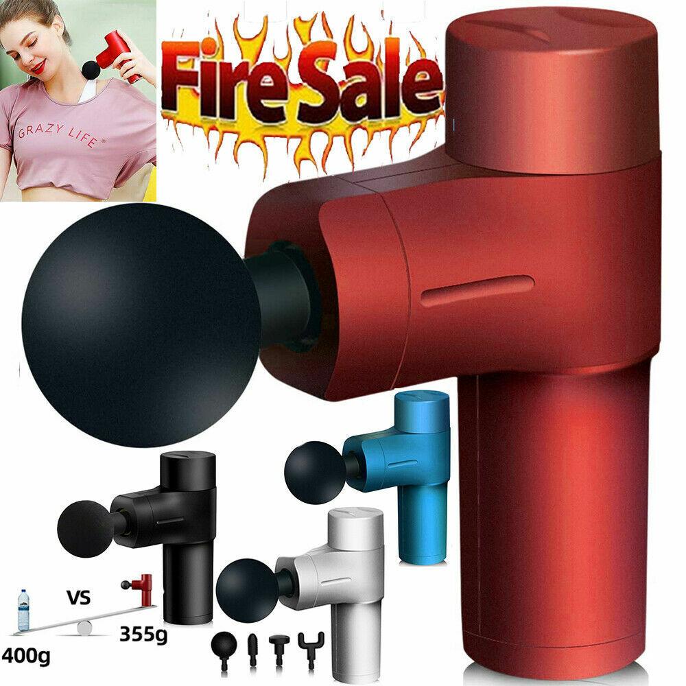 Massage Gun Percussion Massager Deep Tissue Muscle Vibrating Relaxing Body Leg Health & Beauty