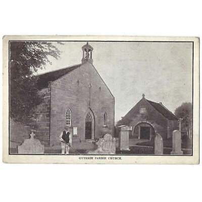 GUTHRIE Parish Church, Angus Postcard Postmark Aberdeen 1904