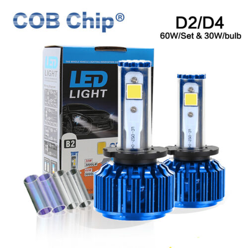 60W 6000LM D2C D2R D2S D4C D4S COB LED Headlight Kit for 2012-2013 Lexus LS460L