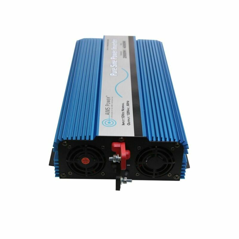 AIMS 2000 Watt Pure Sine Wave Inverter ETL Listed to UL 458