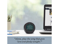 Amazon Echo Spot, Smart Alarm Clock with Alexa - Black -Mint
