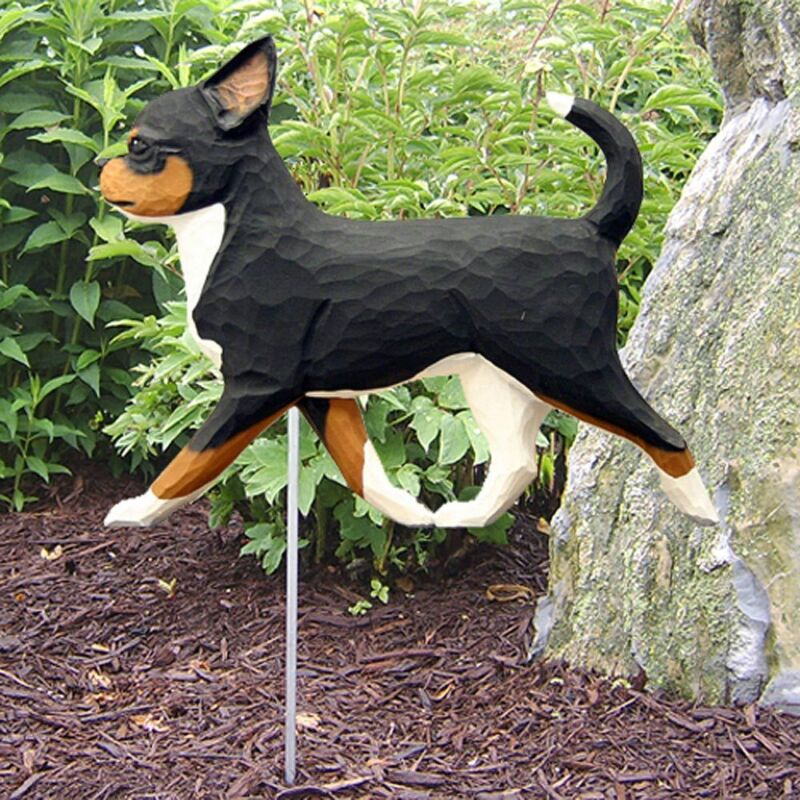 Chihuahua Outdoor Garden Sign Hand Painted Figure Tri