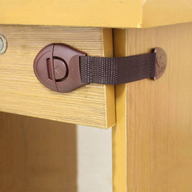 10Pcs Baby Child Pet Safety Safe Lock Fridge Toilet Drawer Cabinet Cupboard Door
