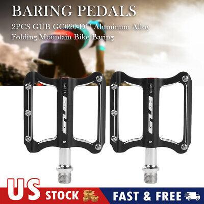 2pcs Aluminum Alloy Folding MTB Road Bike Baring Pedals Platform Flat Pedals
