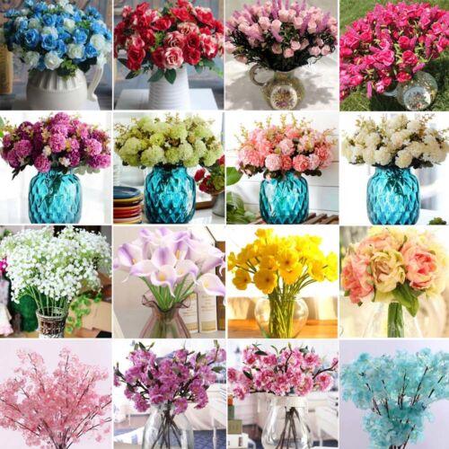 19Stile Kunstpflanze Kunstblume Künstliche Kunst Blumen Blüten Seidenblumen Deko